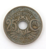 1917 FRANCE 25 CENTIMES.