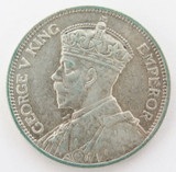 HIGH GRADE 1934 NEW ZEALAND ONE SHILLING. 8 PEARLS AND FULL DIAMONDS. NICE!!
