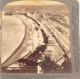 FRANCE 1898, CITY of NICE COAST LINE, UNDERWOOD & UNDERWOOD STEREOVIEW CARD.