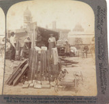 USA 1906, SAN FRANCISCO HOMELESS SHELTERS, 8198 UNDERWOOD STEREOVIEW CARD.