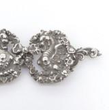 Antique Sterling Silver Nurses Belt Buckle Ornate Winged Dragons & Bow 19.3g