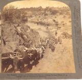 SOUTH AFRICA, BOER WAR, ROBERTS ADVANCES ON PRETORIA, UNDERWOOD STEREOVIEW CARD.