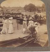 ENGLAND 1902, HENLEY REGATTA, UNDERWOOD & UNDERWOOD STEREOVIEW CARD.