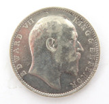 1903 INDIA 1 RUPEE. 917 SILVER COIN. CIRC CONDITION.