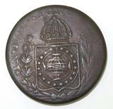 1830 BRAZIL 80 REIS COIN.