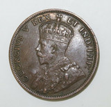 1911 CANADA ONE CENT. SUPERB HIGH GRADE 8 PEARLS & FULL CENTRE CROWN.