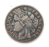 1871 FRENCH FRANCE SILVER 2 FRANCS.