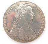 EF / aUNC 1780 (RESTRIKE) MARIA THERESA RESTRIKE SILVER THALER.