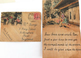 1912 INDIA CEF 1A to UK VIA SIBERIA on CHINESE COVER + LETTER.