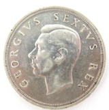 HIGH GRADE 1949 SOUTH AFRICA 5 SHILLINGS.