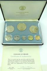 1974 BELIZE 8 COIN PROOF SET. SEALED IN ORIGINAL PACKAGING. FRANKLIN MINT.