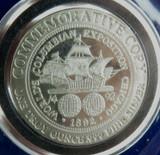 1992 US COMMEMORATIVE PROOF-LIKE UNC COLUMBUS .999 SILVER HALF DOLLAR.