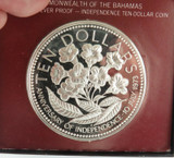 1975 BAHAMAS $10 SILVER PROOF.