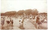 1907 GERMAN REAL PHOTO POSTCARD. KINDERSPIELPLATZ CHILDRENS PLAYGROUND.