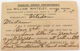 "1897 UK to ITALY 1d PRE PAID PADDINGTON CANCEL ""WILLIAM WHITELEY"" POSTCARD."