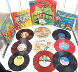 NICE SELECTION VINTAGE CHILDRENS RECORDS. VOCO, TOYLAND, PLAYTIME, CRICKET ETC.