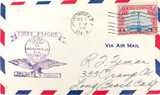 SCARCE 1928 ATLANTA - MIAMI FIRST FLIGHT CACHET COVER AIR MAIL.