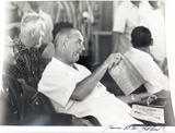RARE SIGNED JAMES K. W. ATHERTON PHOTOGRAPH OF PRESIDENT LYNDON B JOHNSON