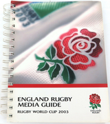 RARE MEDIA GUIDE. 2003 RUGBY WORLD CUP ENGLAND RUGBY MEDIA GUIDE.