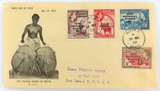 1958 GHANA / GOLD COAST to WALL St, NEW YORK, USA REGISTER FDC.