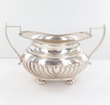 Stunning Antique Ornate Sterling Silver Sugar Bowl 1907 Martin, Hall & Co 171g