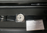 Bell & Ross Steel Chronograph Watch 46MM BR01-94-S Box & Docs