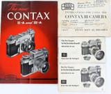 4 VINTAGE ZEISS IKON INSTRUCTION BOOKLETS CONTAX & CONTAFLEX