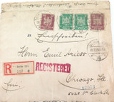 1925 BERLIN, GERMANY REGISTERED MAIL COVER. GERMANY TO CHICAGO, USA.