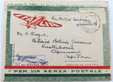 1941 ITALIA ITALY O.A.S. CENSORED AIR MAIL SLEEVE. ITALY to SOUTH AFRICA