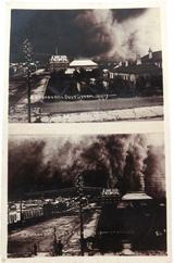 "SUPER RARE 1907 SPLIT VIEW REAL PHOTO POSTCARD ""BROKEN HILL DUST STORM 15/12/07"""