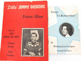 "AUTOGRAPHED GRAND OLE OPRY BOOKLETS. ""LITTLE"" JIMMY DICKENS & WILMA LEE COOPER."