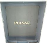 """1988 PULSAR ANALOGUE """"T-B26 A"""" MENS HARD SHELL DISPLAY BOX + GUARANTEE."""