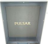 "1988 PULSAR ANALOGUE ""T-B26 A"" MENS HARD SHELL DISPLAY BOX + GUARANTEE."