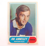 1969 SCANLENS RUGBY LEAGUE CARD. #14 JOE ANNESLEY, NEWTON
