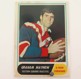 1969 SCANLENS RUGBY LEAGUE CARD. #18 GRAHAM MAYHEW, EASTERN SUBURBS.