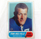 1969 SCANLENS RUGBY LEAGUE CARD. #30 TOM MELVILLE, NEWTOWN.