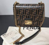 2019 Fendi Kan U Small Leather Shoulder Bag RR $3050