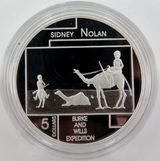 2006 .999% FINE SILVER 1oz PROOF $5. SIDNEY NOLAN, BURKE & WILLS.