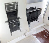 c1900 - c1920 RARE LOT of 20 TRAVELLING SALEMAN STOVES & HEATERS LARGE PHOTO'S
