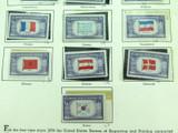 "1943 - 1944 US STAMP COMMEMORATIVES, 5c SET ""OVERRUN COUNTRIES"". UNUSED HINGED."