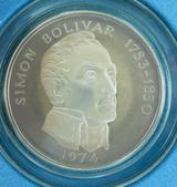 HUGE 1974 PANAMA 20 BALBOAS .925 SILVER PROOF COIN 129G + ORIGINAL BOX + COA