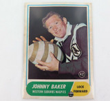 1969 SCANLENS RUGBY LEAGUE CARD. #42 JOHNNY BAKER, WESTERN SUBURBS.