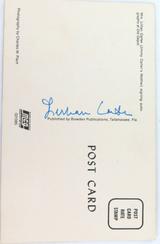 LILLIAN CARTER (MOTHER of US PRESIDENT JIMMY CARTER) HANDSIGNED UNUSED POSTCARD.