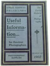RARE 1902 GIMBEL BROTHERS, PHILADELPHIA USA PHOTOGRAPHIC SUPPLIES BOOK / CATALOG