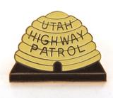 OBSOLETE USA UTAH HIGHWAY PATROL ENAMELLED METAL PIN / BADGE. #2