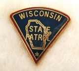 OBSOLETE USA WISCONSIN STATE TROOPER ENAMELLED METAL PIN / BADGE. #6