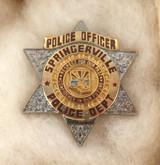 OBSOLETE USA SPRINGERVILLE ARIZONA POLICE OFFICER ENAMELLED METAL PIN / BADGE #7