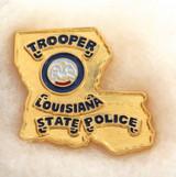 OBSOLETE USA LOUISIANA TROOPER STATE POLICE ENAMELLED METAL BADGE #10