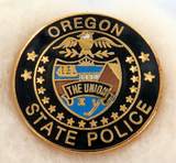 OBSOLETE USA OREGON STATE POLICE ENAMELLED METAL PIN / BADGE #11