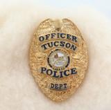 OBSOLETE USA WEST VIRIGINIA STATE POLICE TROOPER ENAMELLED METAL PIN / BADGE #16